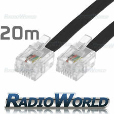 20M Metre RJ11 TO RJ-11 Cable Broadband Modem / Internet Lead Long DSL Black