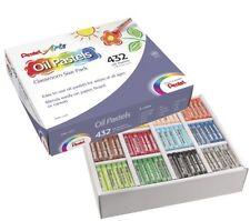 "Pentel Oil Pastels Class Pack, Set Of 432 - 2.38"" X 0.38"" Crayon Size - Black,"