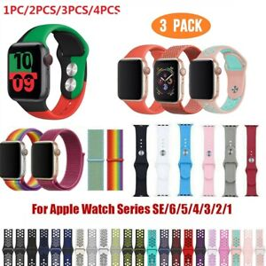 2-5 PACK For Apple Watch Series 6 5 4 3 2 1 SE Sport Strap Soft Band 38-44mm