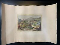 Antique Hand Colored Print / Etching Artist Unknown 16 1/2 X 11 1/2 Rome convent