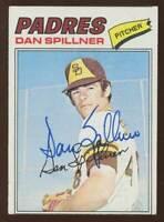 Dan Spillner #182 signed autograph auto 1977 Topps Baseball Trading Card