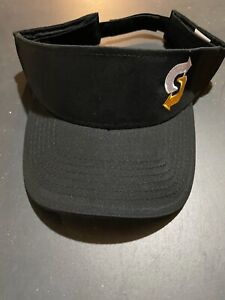 SUBWAY SANDWICH EMPLOYEE VISOR/CAP-.BLACK WITH ADJUSTABLE STRAP BACK-.NEW