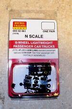 N Scale Micro-Train Couplers (1018) 6 WHEEL PASS. TRUCK  # 003 02 061