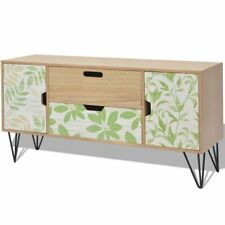 Vintage Retro Sideboard Scandinavian Design 2 Drawers Cupboards Steel Pin Legs