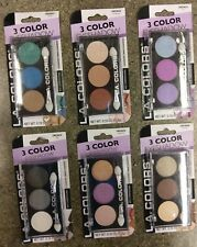 New L.A. Colors 3 Color Eyeshadow - 6 Shades - You Choose - Free Shipping
