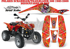 AMR RACING DEKOR KIT ATV POLARIS SCRAMBLER/TRAILBLAZER ED-HARDY LOVEKILLS B