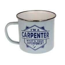 History & Heraldry Top Bloke Tin Mug Carpenter NEW Indoors Outdoors Camping 17