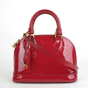 Louis Vuitton Hot Pink Patent Leather Alma BB Crossbody Shoulder Bag