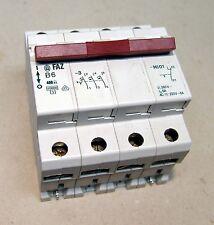 Moeller Leitungsschutzschalter FAZB 6-3-HI01 4-polig mit Hilfskontakt NEU