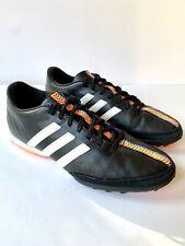 New listing Adidas Men's 11Nova TF B39775 Leather Black Orange Soccer Cleats Shoes Size 9