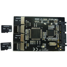 4 ports micro SD/SDHC/SDXC card to 22pin SATA reader RAID 0 controller adapter