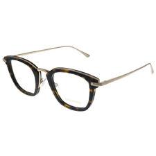 Tom Ford FT 5496 052 Dark Havana Rose Gold Metal Square Eyeglasses 47mm