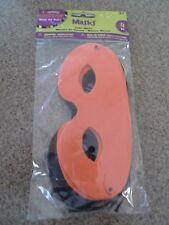 "NEW Darice 12-Pack FOAM Orange & Black Halloween Costume Party Mask 6.25"""