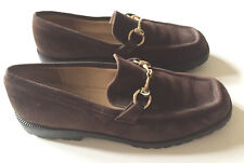 4db78a325c9 GUCCI Women s Suede Leather Horsebit Loafers Lug Sole Espresso Brown Sz ...