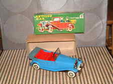 VINTAGE SSS INTERNATIONAL ANTIQUE CAR TIN FRICTION DRIVEN MODEL W/ORIGINAL BOX!