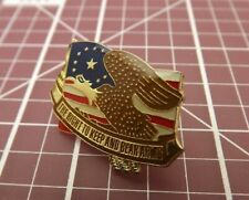 Usa Flag Eagle The Right To Keep and Bear Arms Pin Lapel / Hat Pin Brand New
