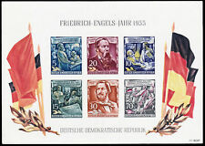 DDR #MiBl13 MNH S/S CV€80.00 1955 Engels Flags [Ink Transfer][264a]
