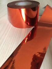 """Orange Pure Metallic"" transfer nail art foil - 1 meter"