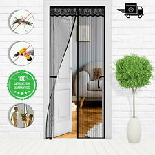 Hands-Free Mesh Door Anti Mosquito Bug Insect Magnetic Curtain US Shipping