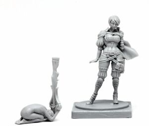 █ 30mm Resin Kingdom Death Pinup Great Game Hunter Unpainted ONLY Figure WH067