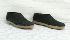 Unisex Glerups Wool Leather Grey Slippers Size 10 US EU 44 FITS LIKE 10.5