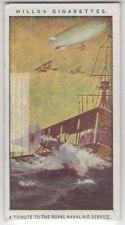 Wwi British Naval Air Service Tribute c100 Y/O Trade Ad Card