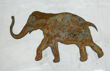 6 inch Elephant Animal Shape Rusty Rustic Vintage Metal Wall Art Craft Stencil