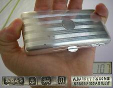 XIXe victorian A. BARRETT & SONS étui a rasoir EN ARGENT rasor case solid silver
