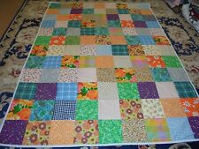 Nice Bright Big Block Hodge Podge Pattern Quilt