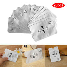 20x RFID Blocking Sleeve Credit Card Protector Bank Card Holder for Wallets