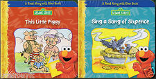 Sesame Street THIS LITTLE PIGGY & SING A SONG SIXPENCE w/Elmo Read-Along Ages 2+