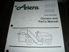 ariens 827/836 single bag bagger,illustrated parts list manual