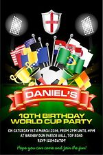 Personalised Birthday Invitations Football World Cup Party x 5