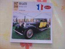 CARTE FICHE BUGATTI ROYALE 41150