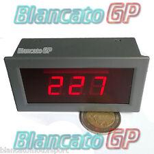 VOLTMETRO AC 75-300V LED ROSSO pannello 220V casa laboratorio digitale solare