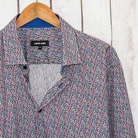 Jared Lang Men's Button Front Shirt Multi color spec print Size 2XL 100% Cotton