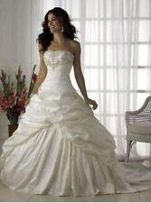 New White/ivory Wedding Dress Bridal Gown Custom Stock Size: 6 8 10 12 14 16 18