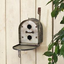 "NWT Gerson 9.6"" Metal Mail Box Mailbox w/ Flag Unique Birdhouse"