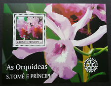 Sao Tome Orchids 2004 Flower Flora International Rotary (ms) MNH