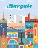 Margate VINTAGE RETRO ADVERTISING ENAMEL METAL TIN SIGN WALL PLAQUES