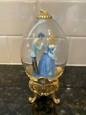New ListingLimited Edition Franklin Mint Disney Cinderella Gold Footed Glass Collectors Egg