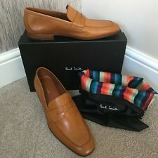 PAUL SMITH TAN LEATHER GLYNN LOAFER SHOES MADE IN ITALY SIZE UK 8 RETAIL £285