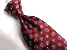 "ERMENEGILDO ZEGN Red /Gray Floral NECK TIE 100% SILK 4"" W/ 60"" L"