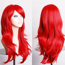 """UK Top Sale 24"""" Womens Long Hair Full Wigs Party Costume Cosplay Wig Halloween"""