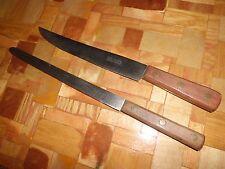 2- Vintage Crest Import Slicing & Carving (carbon steel) Knives Solingen Germany