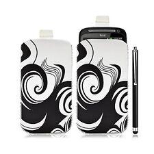 Housse coque étui pochette pour HTC Desire S avec motif HF04 + Stylet luxe