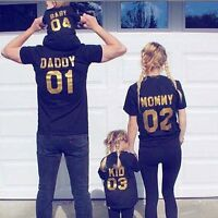Family Matching Outfits DADDY MOMMY KID BABY Shirt Cotton T-shirt Couple Clothes