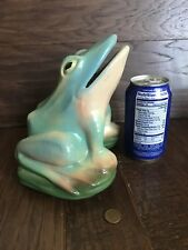 RARE BURLEY WINTER (NEW) ARTS & CRAFTS POTTERY OPEN MOUTH FROG MARKED