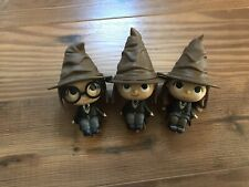 Funko Harry Potter Mystery Minis Lot Harry Ron Hermione Sorting Hat