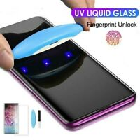 6D UV Glue Liquid Screen Protector For Samsung Note10 9 8 S10+ Tempered Glass